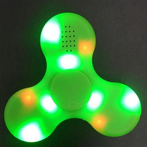 Spinner Bluetooth Musik e smarter led bluetooth speaker fidget spinner green free shipping dealextreme