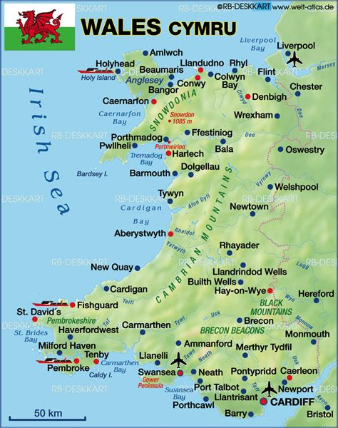 map of wales map of wales united kingdom the uk
