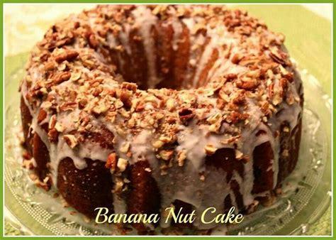 banana nut pound cake desserts pinterest