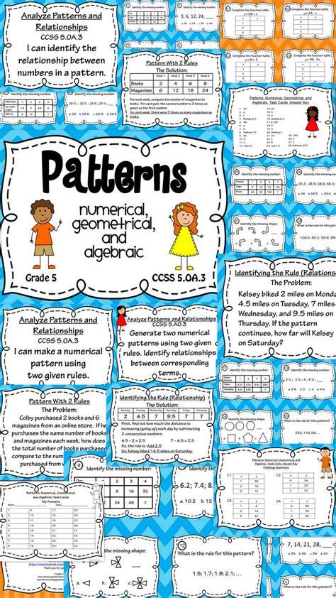 pattern math grade 6 10 best images about patterns grade 4 on pinterest