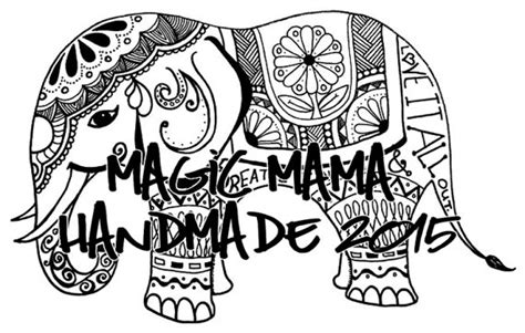 ellie elephant coloring page ellie coloring page by magicmamahandmade on etsy