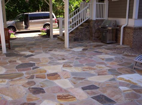 Diy Flagstone Patio Ideas Building Flagstone Patio Mortar Modern Patio Outdoor