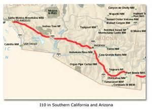map of i 10 interstate highway system history desertusa