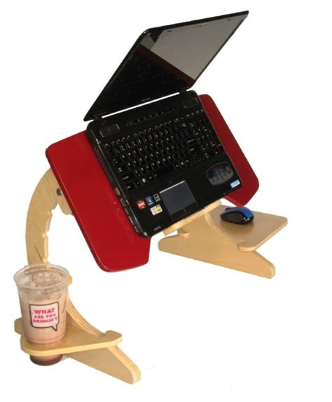 In Bed Laptop Desk Ergonomic Laptop Stand Slash Tray Is For Those Who Working In Bed Ohgizmo