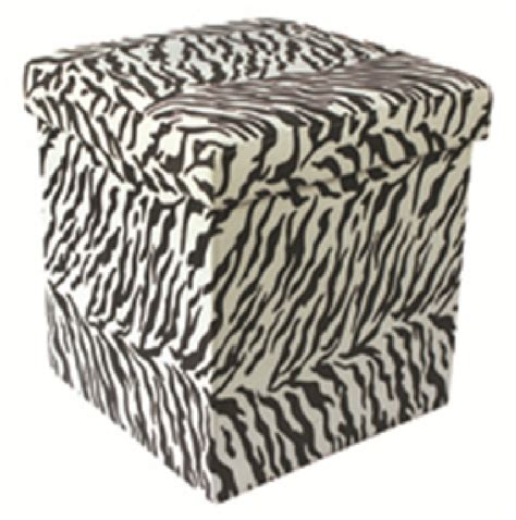 Animal Print Storage Ottoman Jungle Animal Print Folding Storage Pouffe Foot Rest Stool Ottoman Box Seat Ebay