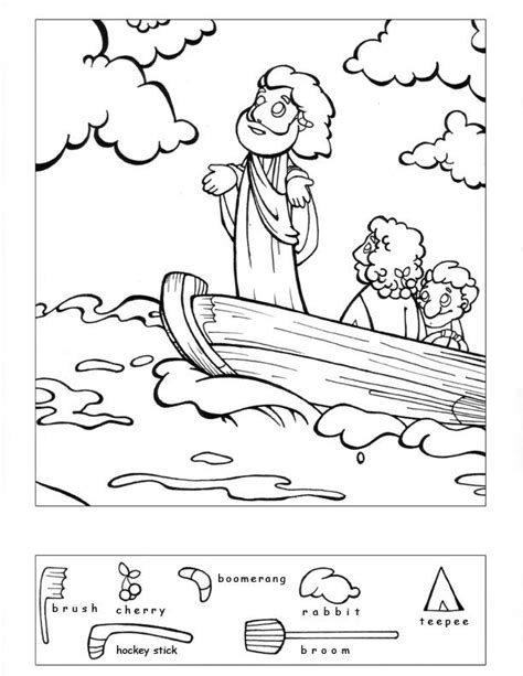 printable coloring pages jesus calms 1000 images about bible jesus calms a on