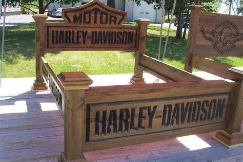 harley davidson bed harley davidson bed frame home decor and candles pinterest