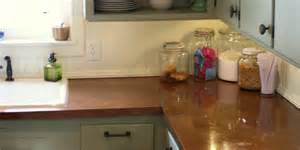 Copper Kitchen Countertops Remodelaholic Copper Countertops Tutorial Kitchen Renovation Idea