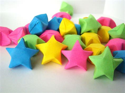 How To Make A Lucky Out Of Paper - 100 origami lucky solid colors you by