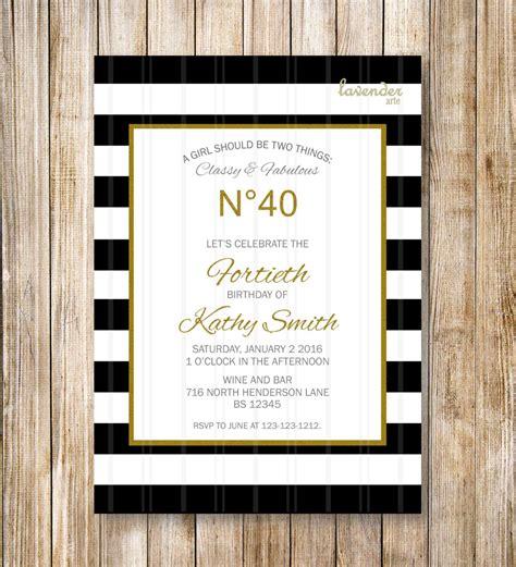 coco chanel wedding invitations and fabulous black stripes birthday invitation