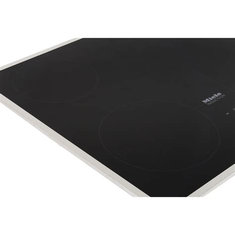 miele induction hob buy miele km6322 induction hob flat stainless steel trim marks electrical