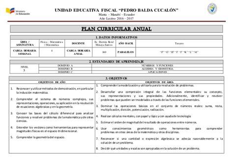 Modelo Curricular Planes Y Programas De La Educacion Basica En Plan Curricular Anual Y Bloque Matem 225 Tica Superior