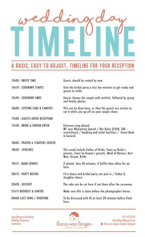 Wedding Timeline by Wedding Day Timeline Lubellos Bridal Designs