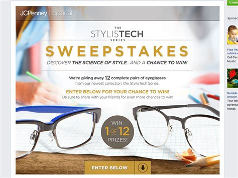 Jcpenney Sweepstakes - jcpenney optical 2014 stylistech sweepstakes