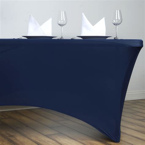 fitted tablecloths for rectangular tables 1 dozen 6 ft rectangle spandex stretch table covers fitted