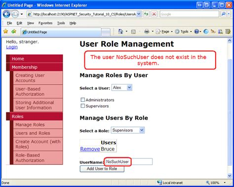 tutorial asp net security assigning roles to users c the asp net site