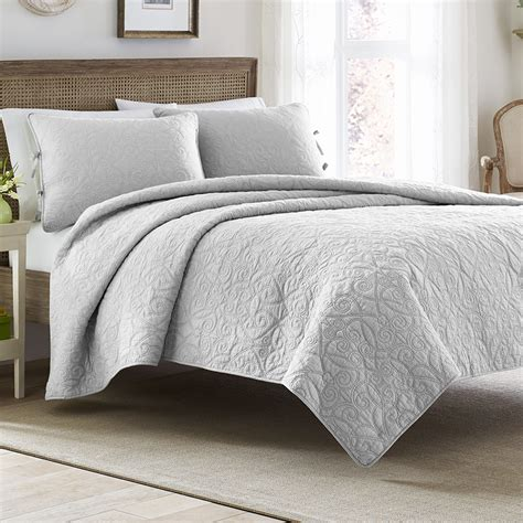 Gray Quilt Bedding by Felicity Soft Grey Quilt Set From
