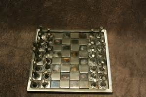 metal chess set kitchen dining