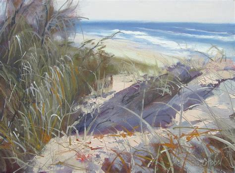 Seashore Home Decor by Sunrise Beach Dunes Sunshine Coast Qld Australia Painting