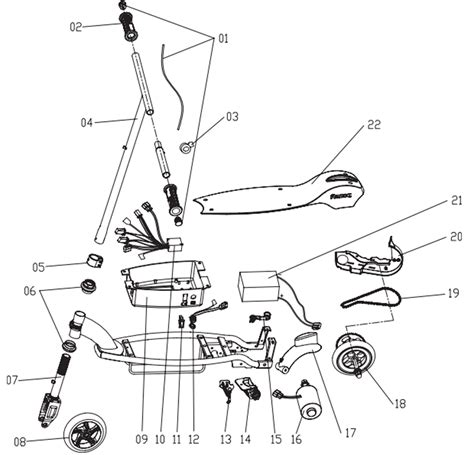 scooter diagram razor electric scooter diagram wiring diagram with
