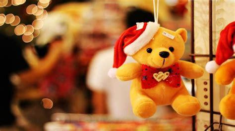 teddy couple wallpaper hd cute teddy bear with christmas cap gift girlfriend