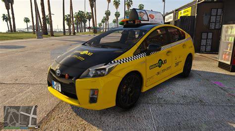 toyota prius mods toyota prius hungarian taxi gta5 mods