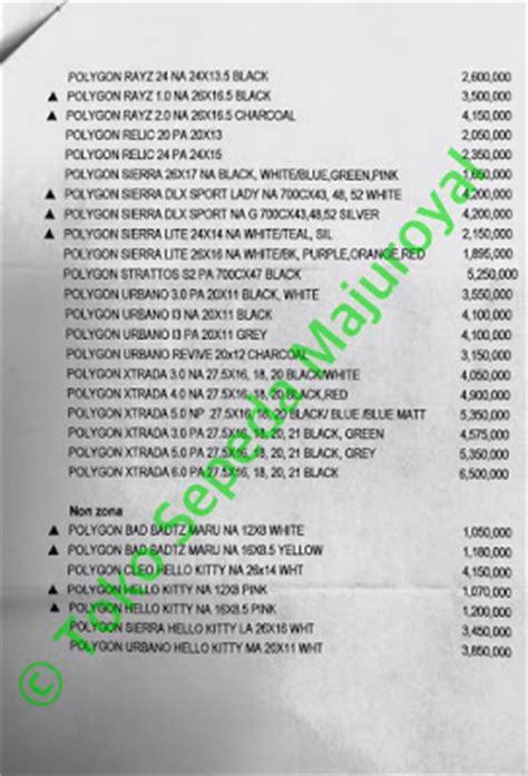 Polygon Sepeda Mtb 26 Rayz 2 0 toko sepeda majuroyal daftar harga sepeda polygon