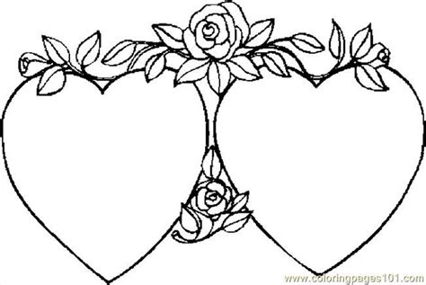 hearts and roses coloring pages printable free valentine pictures to color coloring pages hearts