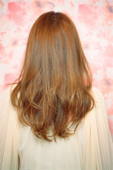 Pictures Of Medium Haircuts With Shaped Back | layered curly hair back view v shape haircuts ideas