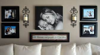Ideas For Displaying Photos On Wall how to create a wonderful wall display with photo collage