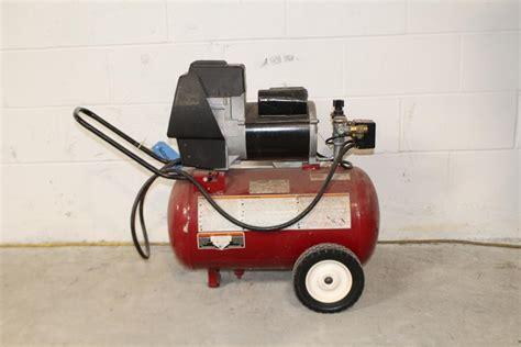 coleman powermate air compressor property room
