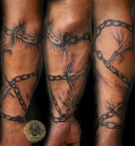 chain tattoo on arm exceptional sleeve ideas for