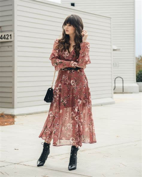 8 Ways To Wear Florals In Winter by How To Wear Floral Dresses Year The M A Times