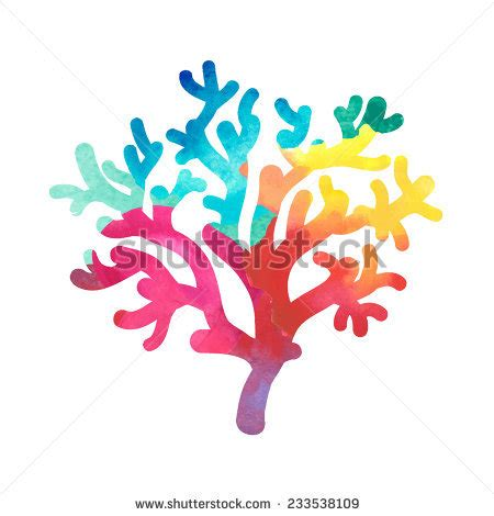 red coral decor stock images image 4448644 red coral branch watercolor illustration isolated stock