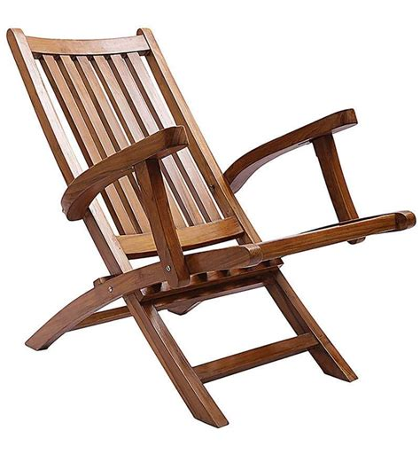 folding chairs wood buy omak teak wood folding chair in teak finish by