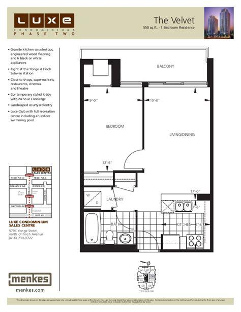 12 Yonge Street Floor Plans by Luxe Condominiums 5791 Yonge Street 5793 Yonge Street