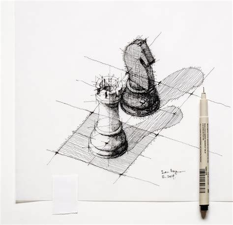 R Sketches by The Black Sketch Chess Dan Hogman Flickr