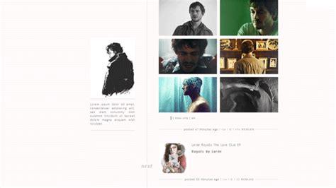 tumblr themes with sidebar image sidebar theme on tumblr