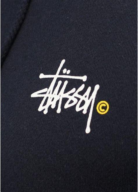 Hoodie Jumper Project You Logos stussy basic logo zip hoody navy blue triads