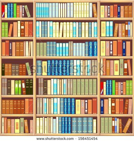 bookcase of different colorful books stock photo