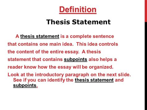 the definition of a thesis statement college essays college application essays def thesis