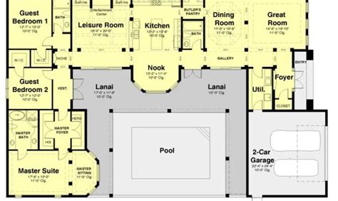 Single Story House Plans With Courtyard The 22 Best Single Story House Plans With Courtyard House Plans 66899