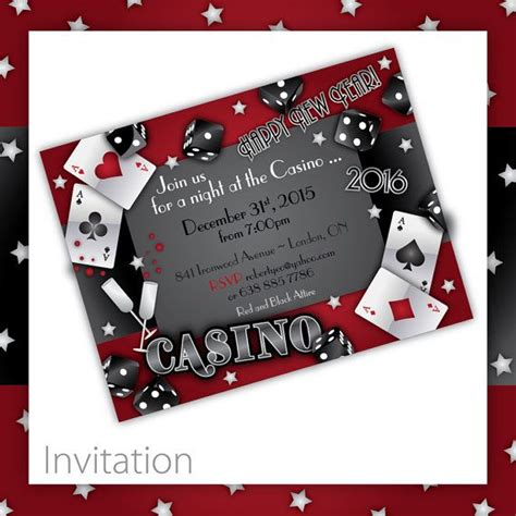 free templates for casino invitations new years party invitations casino new by