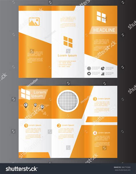 3 fold flyer template professional business three fold flyer template stock