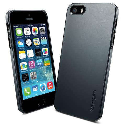 Casing Cover Ultra Thin Stealth Iphone 5 5s 5c Silicon Soft Jell spigen sgp ultra thin air for iphone 5s 5 metal slate