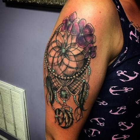 dream catcher tattoo on shoulder 55 dreamcatcher tattoos tattoofanblog
