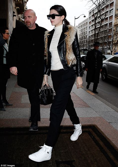 kendall jenner steps out after chanel s paris haute