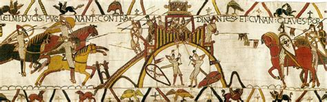 Musée Tapisserie De Bayeux by Bayeux Tapestry Detail 1080 Wool Embroidered On A Linen