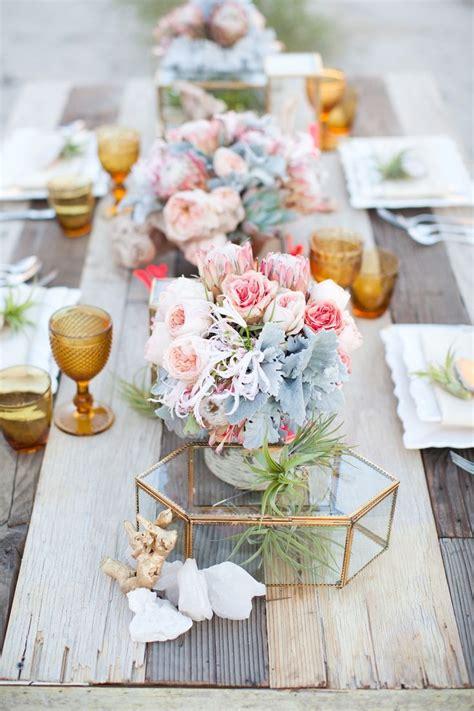 wedding table arrangements flowers beautiful quartz and serenity wedding flowers my wedding favors myweddingfavors