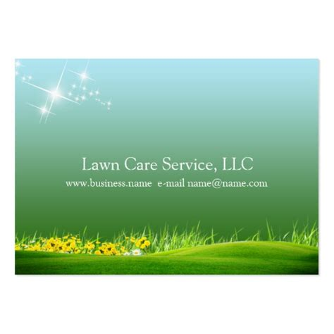 lawn care business card templates free lawn care business large business cards pack of 100 zazzle